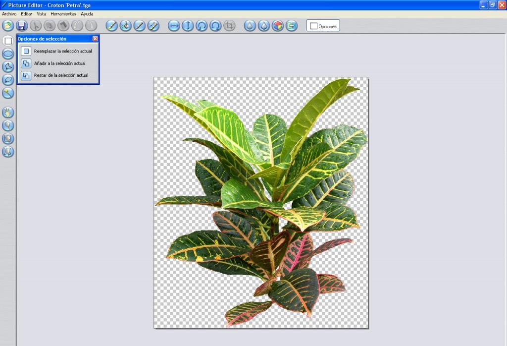 Retoque de imágenes para diseño de zonas verdes