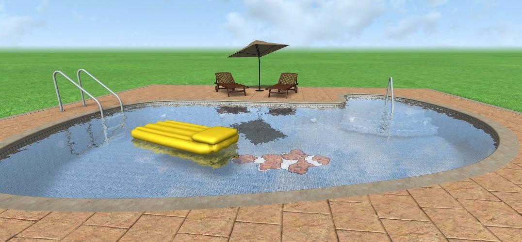 Dise o 3d de piscina con landscape3design landscape - Diseno de piscinas ...
