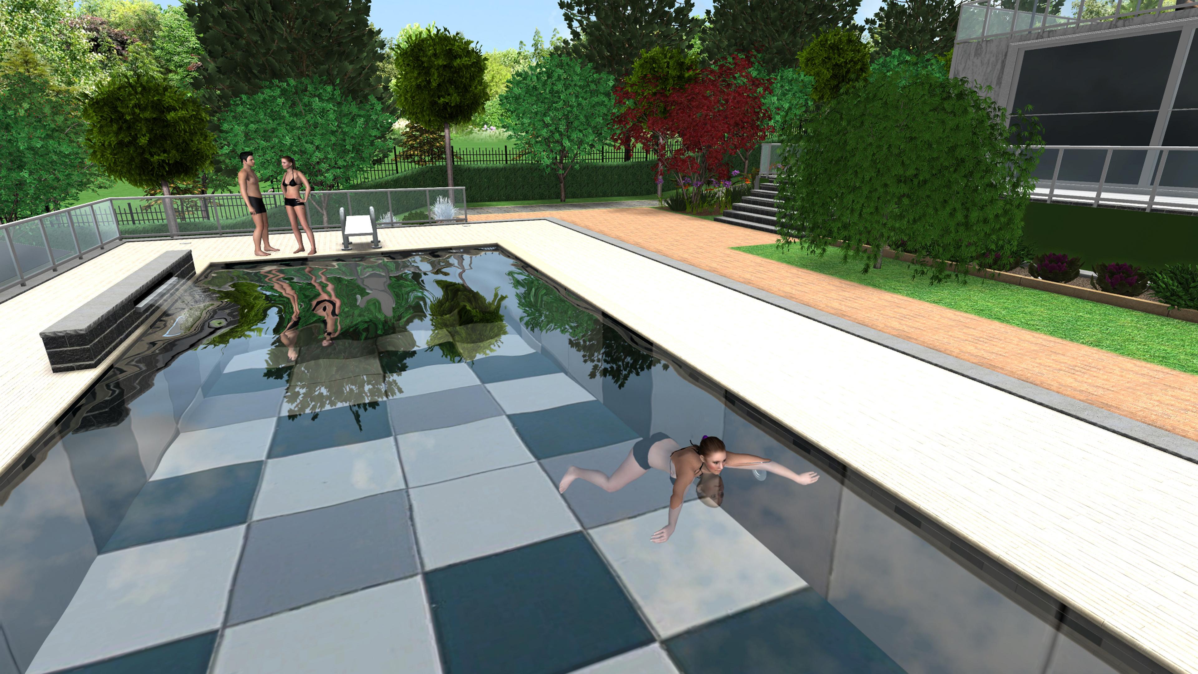 piscinas, piscinas 3D